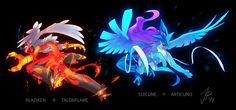 Blaziken + Talonflame and Suicune + Articuno, Pokemon Fusion artwork by Josephine (Cat-Meff). Pokemon Fusion Art, Pokemon Fan Art, Mega Pokemon, Cool Pokemon, Pokemon Super, Pokemon Images, Pokemon Pictures, Digimon, Satan