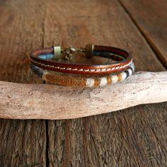 Bracelet homme / Cadeau Homme / Bracelet cuir / Bracelet tissé / Cadeau pour lui / Bracelet cadeau / Boho ethnique / Bijou homme / Noël
