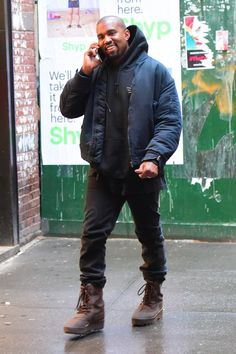 Kanye West wearing Yeezy Season 1 Nylon Bomber, Acne Ace Used Cash Jeans, Adidas Yeezy 950 M, Fan Merchandise Kanye West Hollywood Bowl Hoodie Ropa Kanye West, Kanye West Style, Jd Sports, Best Of Kanye West, Kanye West Adidas Yeezy, Kanye West Outfits, Kanye West Fashion, Yeezy Season 1, Yeezy Boots