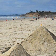 Sand castles (well, really pyramids) on Del Mar beach.  #delmar #delmarbeach #local #california #cali #sunny☀️ #beach🌊 #sandcastle #ocean #happy #fun #sandiegoconnection #sdlocals #delmarlocals - posted by Connor Jax https://www.instagram.com/action_jackson_esq. See more post on Del Mar at http://delmarlocals.com