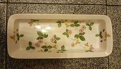 "Wedgwood Wild Strawberry Narrow Roaster, 10½"" x 4½"" x 1-3/4"" deep. $26.99 at dawnmth on ebay, 5/14/16"