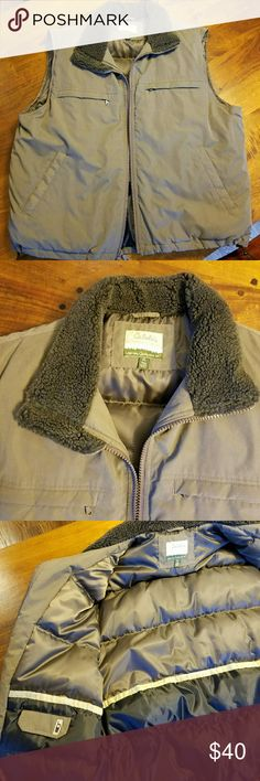 NWOT Cabelas Outfitters Goose Down Men's Vest XL New without Tags Cabelas Outfitter Goose Down Vest. Men's size XL. color is Sage. Super warm and perfect for winter. Cabelas Jackets & Coats Vests