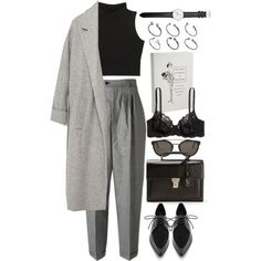 A fashion look from November 2015 featuring Zara coats, Yves Saint Laurent pants and H&M bras. Browse and shop related looks.