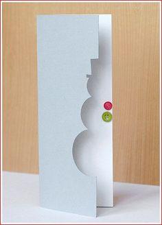Cute snowman card for the holidays.