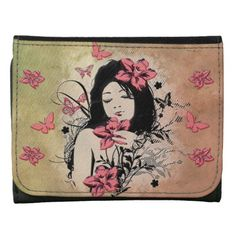 Butterfly Girl 3 Wallet Options