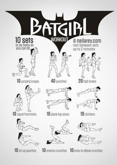 Batgirl Workout | Posted by: AdvancedWeightLossTips.com