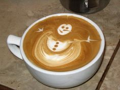 Snow Man - Coffee Art