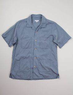 Engineered Garments Blue Iridescent Chambray Chauncey Shirt