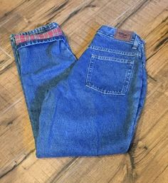 LL Bean Women's Flannel Lined Denim Jeans Size 6 R Double L Relaxed Fit, Cotton #LLBean #Relaxedfit