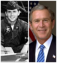 George W. Bush-Texas  Alabama Air National Guard-1968-74-First Lt. 187th Fighter Wing-147th Reconnaissance Wing (43rd President of the U.S.-2001-2009-46th Governor of Texas)