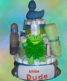 Little Dude Diaper Cake | Premier Gift Solutions #pinterrific