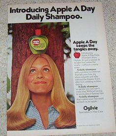1974 Print Ad Page Ogilvie Le A Day Shampoo Cute Hair Vintage Advert