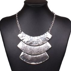 Chunky Women's Tribal Tibet Silver Plate Bib Choker Chain Necklace. Shopswell | Shopping smarter together.™