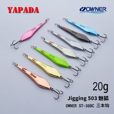 9eb423c0a91d YAPADA Jigging 503 Demon Fox OWNER Treble Hook +Feather 20g 88mm 25g 95mm