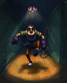 Hello Neighbor by CherilDevalet on DeviantArt Hello Neighbor Game, Russian Video, Spooky Games, Open My Eyes, Yandere Simulator, Arte Horror, Marvel Wallpaper, Detroit Become Human, Pictures Of People