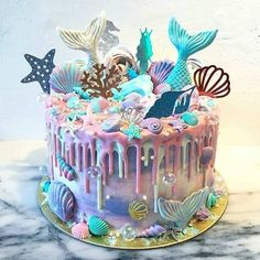 Awesome gender reveal cake Awesome gender reveal cake The post Awesome gender reveal cake & Backen & Torten und Kuchen appeared first on Gender reveal ideas . Pretty Cakes, Cute Cakes, Beautiful Cakes, Amazing Cakes, Mermaid Birthday Cakes, Mermaid Cakes, Cake Birthday, Mermaid Tail Cake, Birthday Ideas