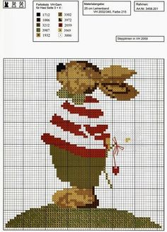 Милые сердцу штучки: рукоделие, декор и многое другое: Вышивка крестом: Веселая коллекция пасхальных зайцев