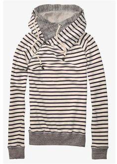 Double Hooded Sweatshirt for Fall | $25.99 on Jane.com