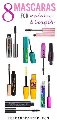 8 Mascaras that Lengthen and Volumize Your Lashes A list of 8 mascaras that lengthen and volumize, from drugstore to high-end. If you want big, bold lashes, these are the mascaras that will do it! Best Drugstore Mascara, Mascara Tips, How To Apply Mascara, Applying Mascara, Eyelash Curler, Eyelash Extensions, Eyelash Glue, Christina Aguilera, Skin Makeup
