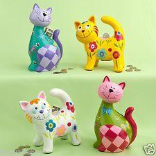 cat piggy banks | eBay