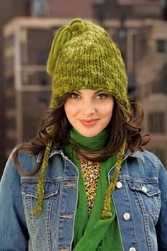 Tasseled Earflap Hat: free knitting pattern available