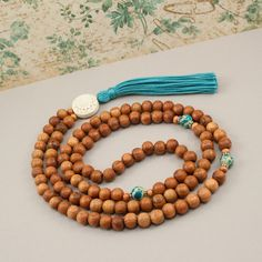 Mala Beads Bayong with Blue Turquoise by GoldenLotusMala on Etsy, $38.00