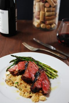 Grilled Lamb with Couscous -- Porter & York Frenched lamb leg rack would be fantastic with this dish. Lamb Recipes, Wrap Recipes, Greek Recipes, Dinner Recipes, Cooking Recipes, Healthy Recipes, Grilling Recipes, Barbacoa, Goody Recipe