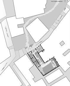 Site Plan. Palazzo Querini Stampalia by Carlo Scarpa, 1961-1963.