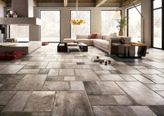 PORCELAIN STONEWARE WALL/FLOOR TILES WITH STONE EFFECT NATIVE BY CERAMICA SANT'AGOSTINO