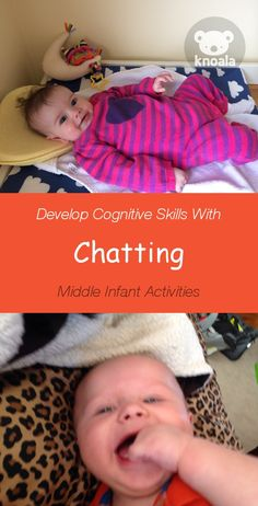 #Knoala Middle Infant activity 'Chatting' helps little ones develop Cognitive, Language and Emotional skills in just 5 mins. Click for simple instructions & 1000s more fun, easy, no-prep activities for kids ages 0-5! #activities #DIY