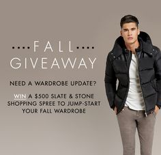 Win a $500 Slate & Stone Shopping Spree