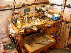 Jewelry Bench, Mason Cutchin,  Chapel Hill, NC  - J Mason Custom Jewelry Larry Seiger on Ganoksin