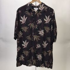 Shirt Hawaiian Concepts by Claiborne Floral Rayon Mens L  | eBay