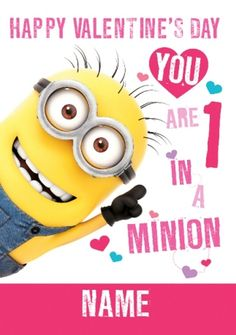 Minions valentines day pictures of the hour (06:09:27 PM, Saturday 13, February 2016 PST) – 16 pics