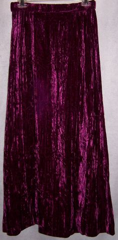 FREE US Shipping Magenta CRUSHED velvet Maxi by CommonCentsThrift, $29.00