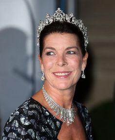 La princesa Carolina de Mónaco lució las dos tiaras de su abuela.