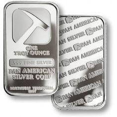 One Troy Ounce Pan American Silver Bullion Bar.
