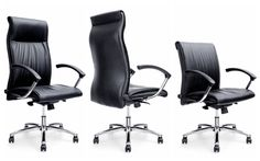 Office Manager Chair Leather Black