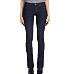 """FINAL PRICE! JBRAND: Petite cigarette leg - sz 28 Straight leg cigarette fit jeans with a 29.75"""" inseam, 8.5"""" rise, and 14"""" leg opening.. They measure 15.25"""" across the top of the waist when laying flat.. EXCELLENT condition!! They r dry clean recommended.. Washing and drying will cause them to shrink!!! J Brand Jeans Straight Leg"""