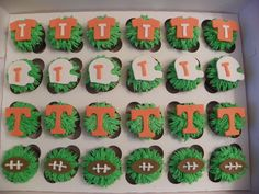 Tennessee Football Inspired Fondant Cupcake Topper