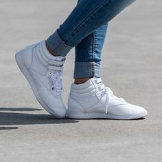 The  reebok Freestyle Hi is still one of the most beautiful silhouettes for  ladies 7d3e43198