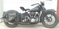Right Side View - Unrestored 1936 Harley Davidson Knucklehead