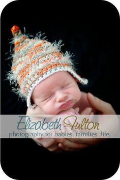Fuzzy Pixie Topper Newborn Crochet Hat