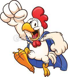 Супер цыпленок — стоковая иллюстрация #18734979 Chicken Tattoo, Chicken Drawing, Chicken Logo, Cartoon Chicken, Chicken Humor, Chicken Signs, Art And Illustration, Ink Illustrations, Hahn Tattoo