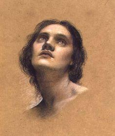Study of a Head II  Evelyn de Morgan