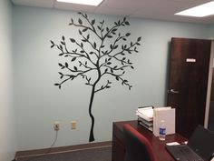 Create the ultimate wall art in your office with our Tree Branch Wall Decals. (Get this featured product here: http://bit.ly/1tl9etW)