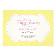 Sweet and modern typography baby shower invitation design with a mix of script and modern fonts on a white cutout shape with cute polka dot border…