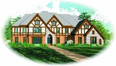 House Plan 053-02235 - Luxury Plan: 7,700 Square Feet, 6 Bedrooms, 4 Bathrooms