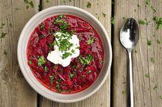 Meaty, Garlicky Russian Borscht