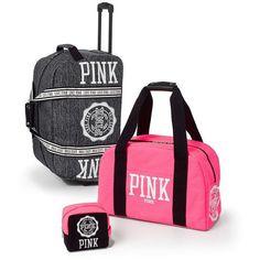 Amazon.com : Victoria's Secret PINK 3pc. Luggage Set- Pink & Marl Grey : Sports & Outdoors